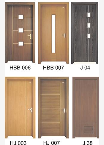 Semi-solid Customized PVC Doors